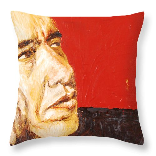 Obama Throw Pillow featuring the painting Obama by Lauren Luna