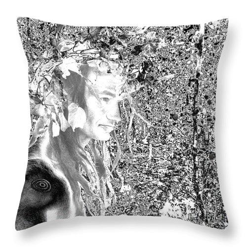 Oberobn King Of Fairy . Throw Pillow featuring the digital art Oberon by Oberon  Ahura Star
