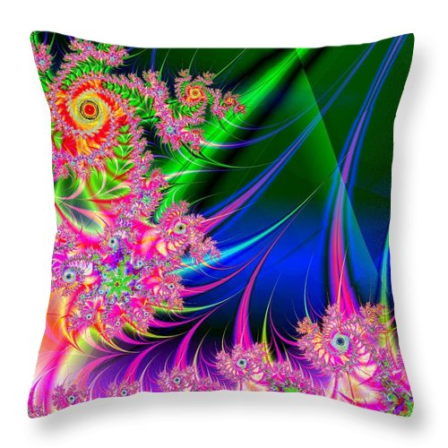 Spiral Throw Pillow featuring the digital art Oblivion by Joanna Aud