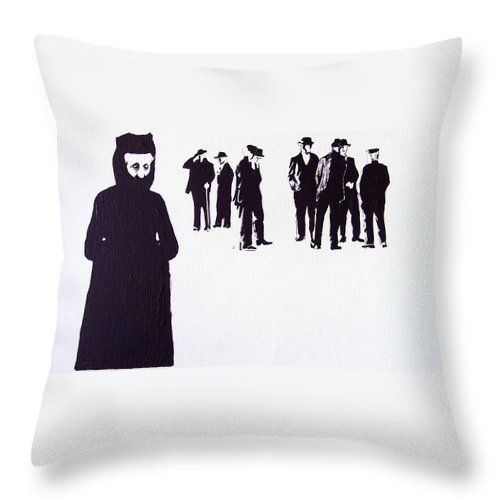 Observada Throw Pillow featuring the painting Observada by Tomas Castano