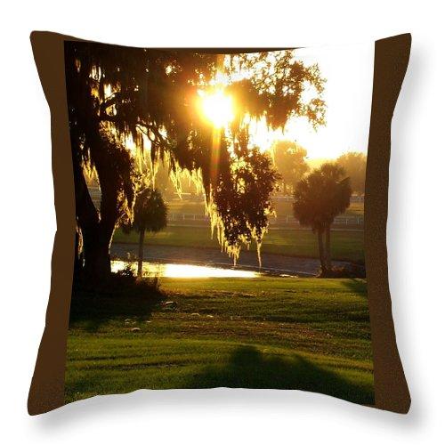 Sunset Throw Pillow featuring the photograph Ocala Sunset by Kristen Wesch