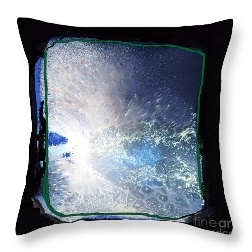 Ocean Throw Pillow featuring the mixed media Ocean - Black And White Abstract by Vesna Antic