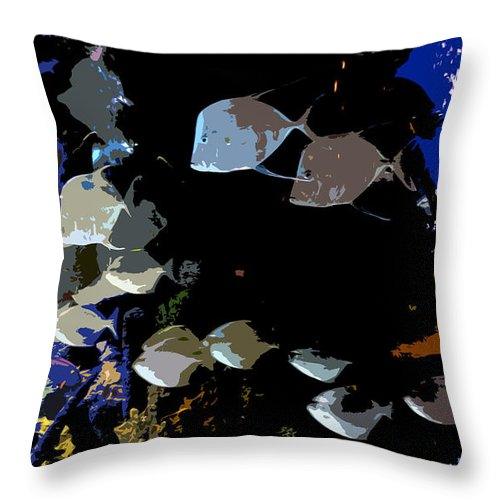 Ocean Throw Pillow featuring the painting Ocean Blue by David Lee Thompson