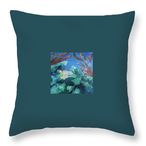 Ocean Throw Pillow featuring the painting Ocean Blue by Suzanne Buckland