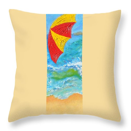 Acrylic Throw Pillow featuring the painting Ocean Breeze by Richard Benson