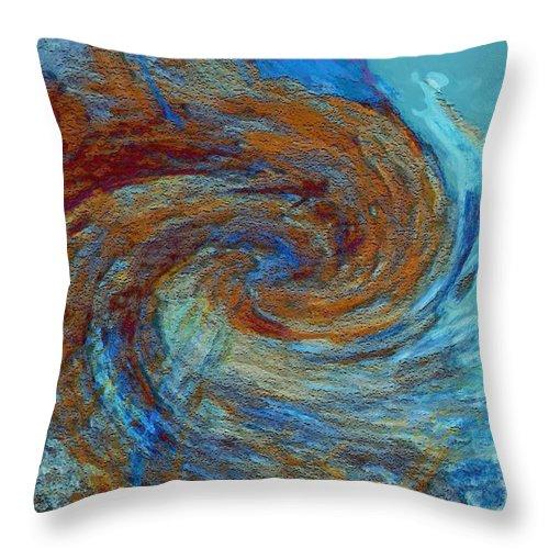 Hurricane Throw Pillow featuring the digital art Ocean Colors by Linda Sannuti