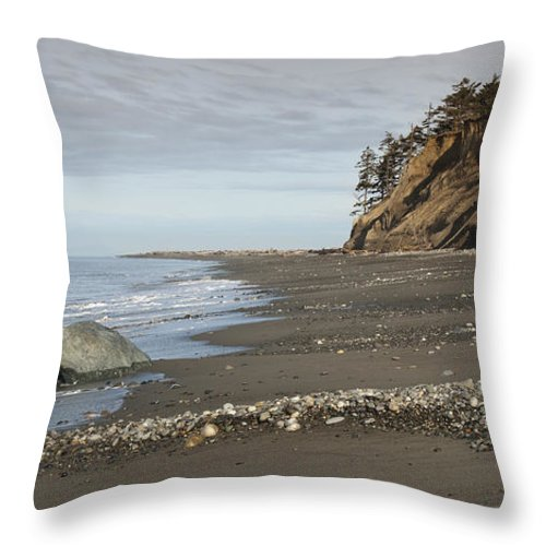 Beach Throw Pillow featuring the photograph Ocean Front View by Chad Davis