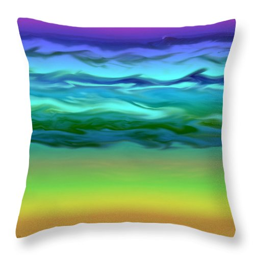 Ocean Throw Pillow featuring the photograph Ocean by Gerry Tetz