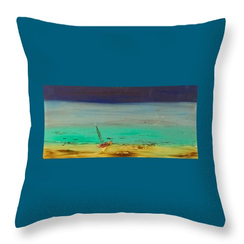Ocean Throw Pillow featuring the painting Ocean Glass by Richard Benson