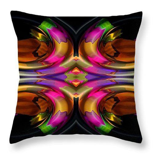 Colorful Throw Pillow featuring the digital art Ocean Grove by Robert Orinski