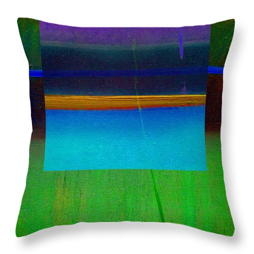 Landscape Throw Pillow featuring the painting Ocean Light by Charles Stuart