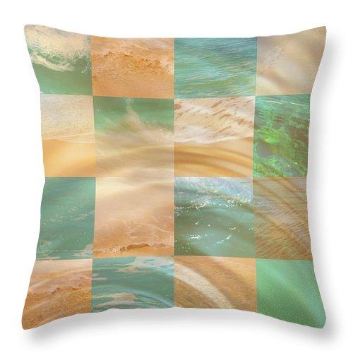 Susan Vineyard Throw Pillow featuring the photograph Ocean Ripples by Susan Vineyard