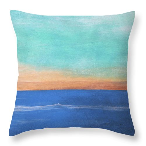 Abstract Ocean Throw Pillow featuring the painting Ocean by Rolf Eriksen