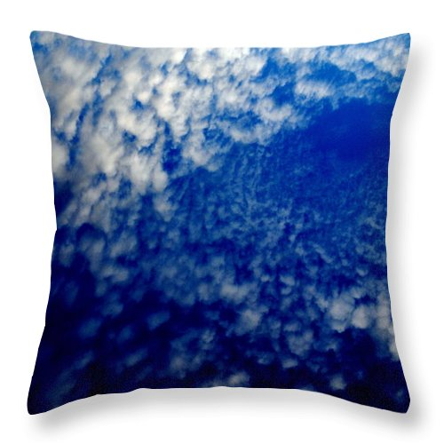 Clouds Throw Pillow featuring the photograph Ocean Sky by Christopher McNeill