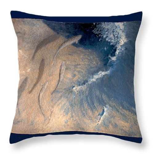 Seascape Throw Pillow featuring the painting Ocean by Steve Karol
