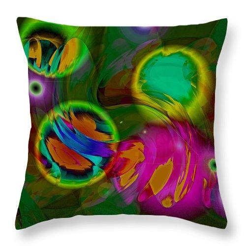 Digital Throw Pillow featuring the digital art Ocean Storm by Lynda Lehmann
