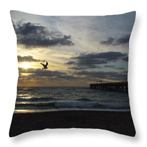 Sunrise Throw Pillow featuring the photograph Ocean Sunrise by Peggy King