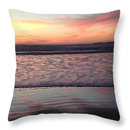 Ocean Throw Pillow featuring the photograph Ocean Sunset by Shari Chavira