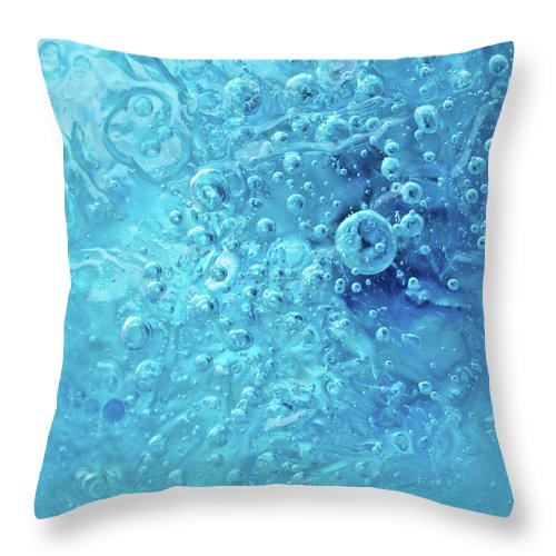 Abstract Throw Pillow featuring the photograph Ocean Under by Shannon Workman