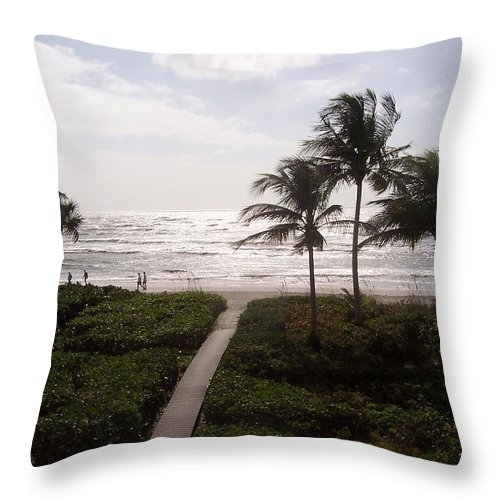 Sanibel Throw Pillow featuring the photograph Ocean View 2007 by Elizabeth Klecker