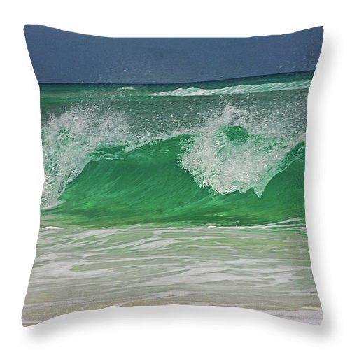 Ocean Throw Pillow featuring the photograph Ocean Wave 2 by Kenneth Christenson