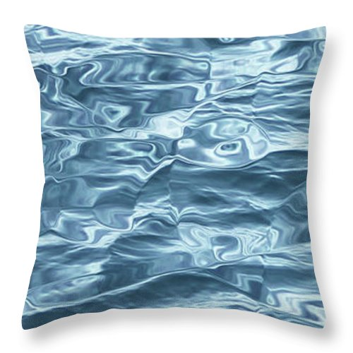 Water Throw Pillow featuring the digital art Ocean Waves_1 by Carol Levin