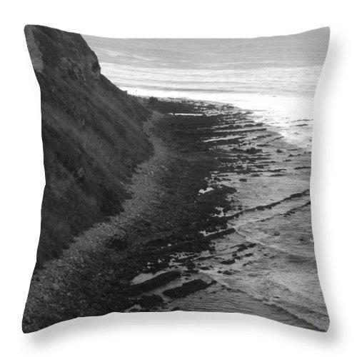 Beaches Throw Pillow featuring the photograph Oceans Edge by Shari Chavira