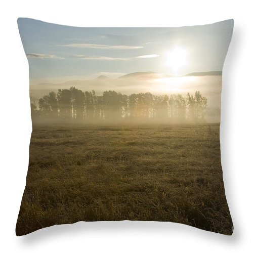 Atmosphere Throw Pillow featuring the photograph October Atmosphere by Idaho Scenic Images Linda Lantzy