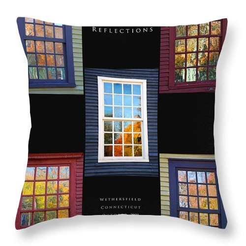 Wethersfield Ct Throw Pillow featuring the photograph October Reflections by Edward Sobuta
