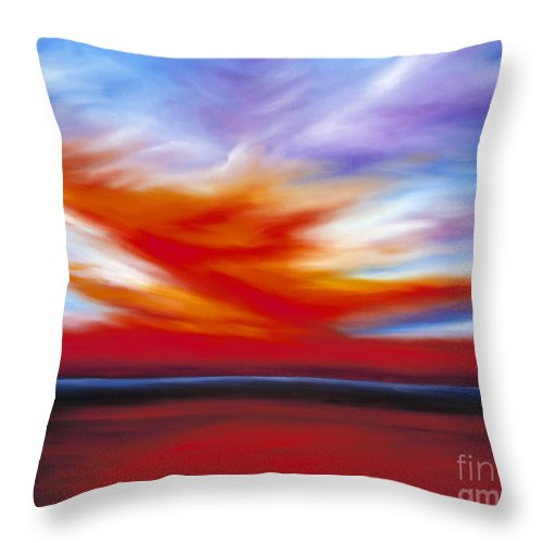 Seascape Throw Pillow featuring the painting October Sky II by James Christopher Hill