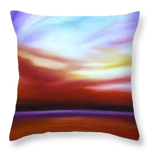 Skyscape Throw Pillow featuring the painting October Sky IIi by James Christopher Hill