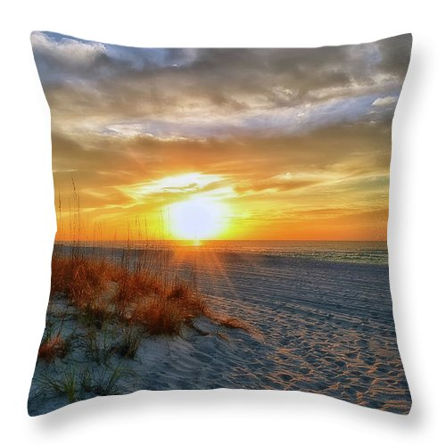Sunrise Throw Pillow featuring the photograph October Sunrise by Joseph Rainey