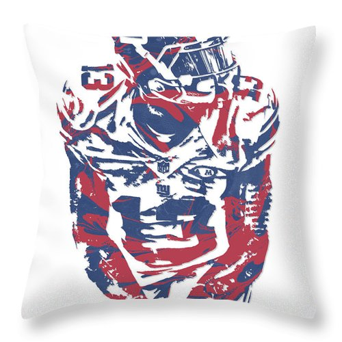96bbaa48b Odell Beckham Jr New York Giants Pixel Art 17 Throw Pillow for Sale by Joe  Hamilton