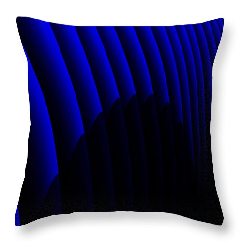 Abstract Throw Pillow featuring the digital art Odyssey by Richard Rizzo