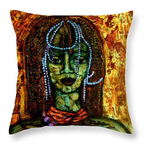 Memories Throw Pillow featuring the painting Of Another Childhood I Keep Memories by Madalena Lobao-Tello