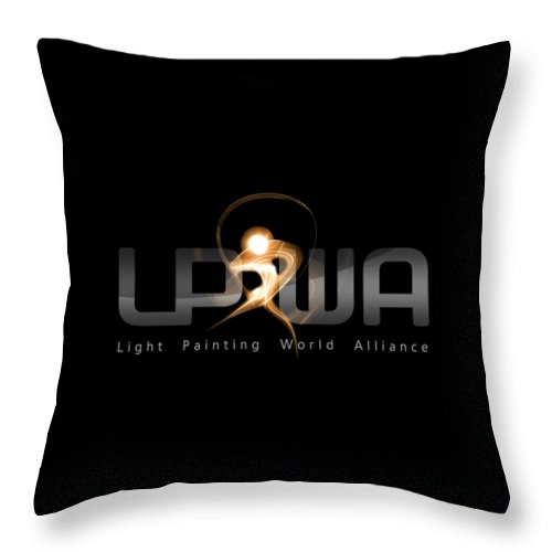 Lpwa Throw Pillow featuring the photograph Official Lpwa Logo by Sergey Churkin