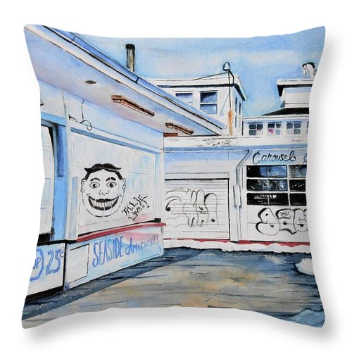New Jersey Throw Pillow featuring the painting Offseason by Brian Degnon
