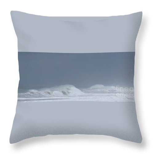 Throw Pillow featuring the photograph Offshore Winds by Larry Daeumler
