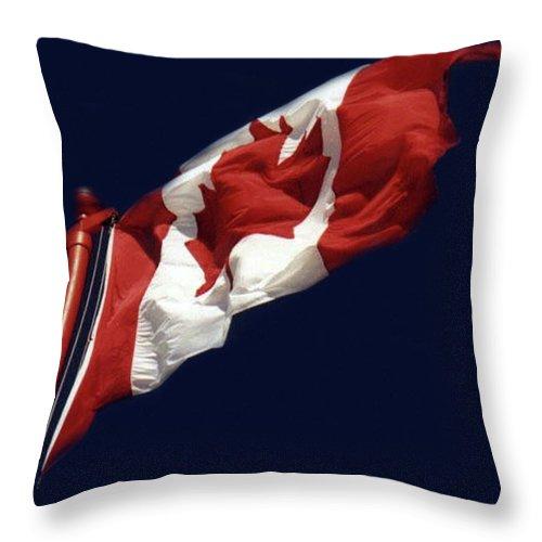 Al Bourassa Throw Pillow featuring the photograph Oh Canada by Al Bourassa