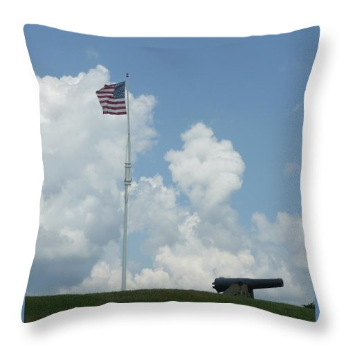 Flag Throw Pillow featuring the photograph Oh Say Can You See by Barb Montanye Meseroll
