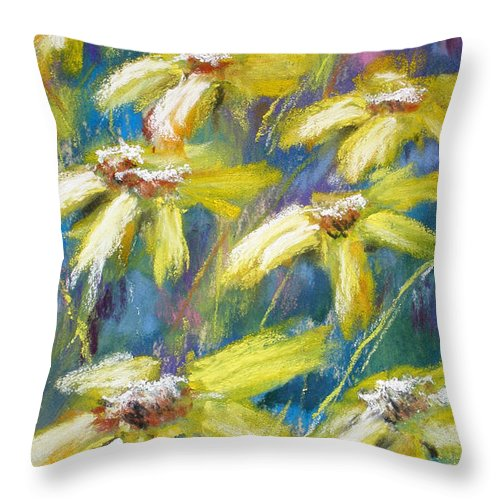 Sunshine Throw Pillow featuring the painting Oh Sunny Day by Cathy Weaver