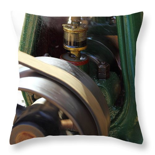 Steam Engine Throw Pillow featuring the photograph Oiler by Pat Williams