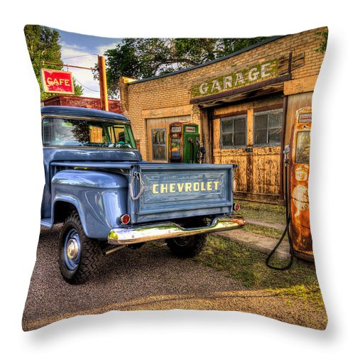 Chevrolet Throw Pillow featuring the photograph Ol Chevrolet by Ryan Smith