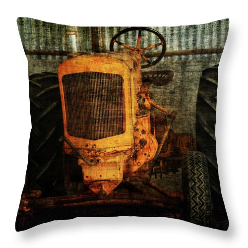 Tractors Throw Pillow featuring the photograph Ol Yeller by Ernie Echols