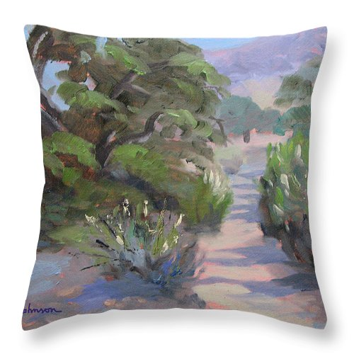 Landscape Throw Pillow featuring the painting Old Agoura by Jay Johnson