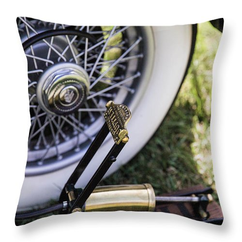Throw Pillow featuring the photograph Old Air Pump by Timoke Brown