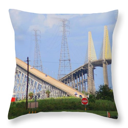 Rainbow Bridge Throw Pillow featuring the photograph Old And New by John W Smith III