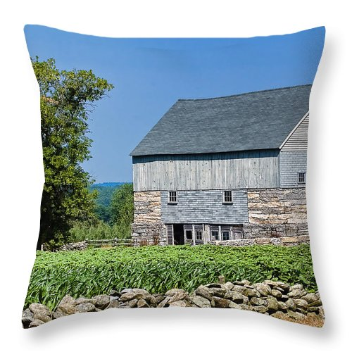 Barn Throw Pillow featuring the photograph Old Barn by Edward Sobuta