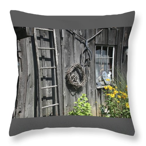 Barn Throw Pillow featuring the photograph Old Barn II by Margie Wildblood