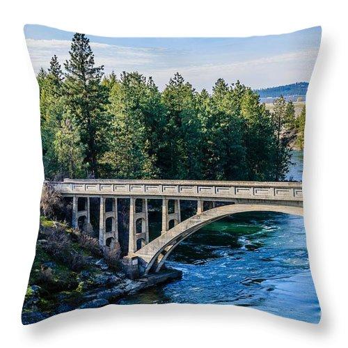 Bridge Throw Pillow featuring the photograph Old Bridge by Sam Judy